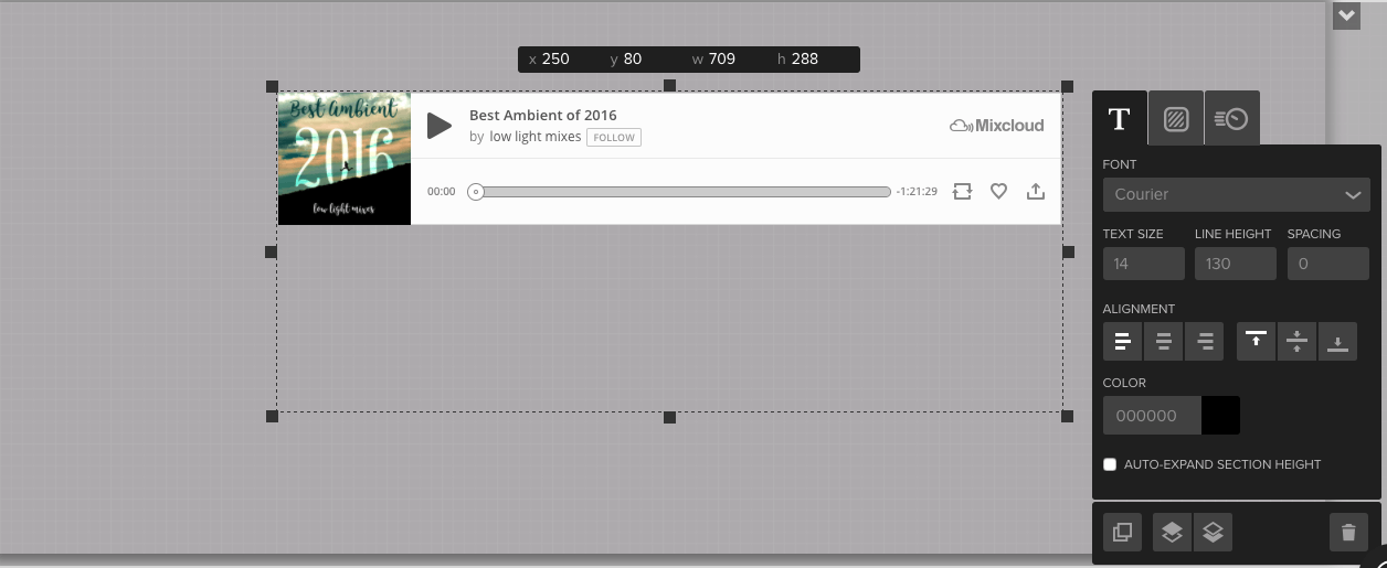 Adding audio from Mixcloud – Pixel Together